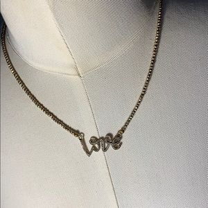 RockLuxe Raw Diamond Love Necklace